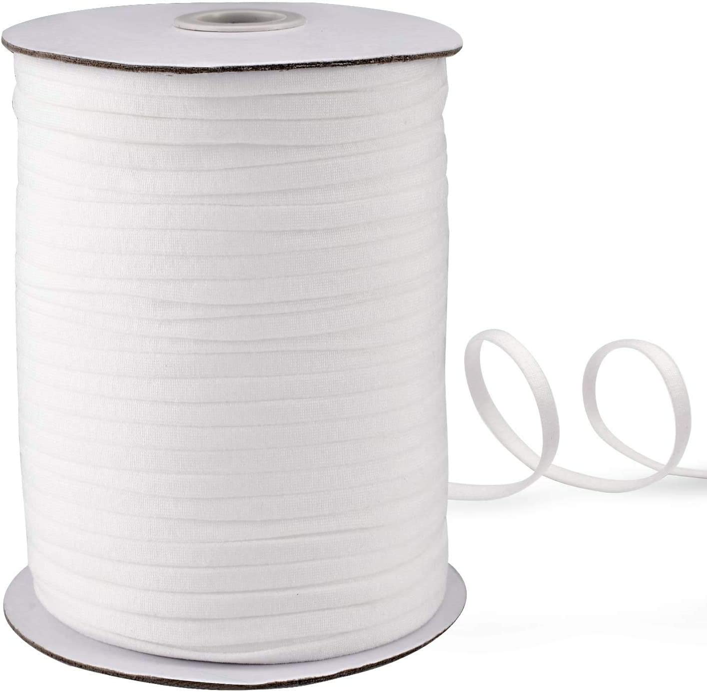 Elastic Bands for Sewing and Face Coverings for DIY 100 PCS 42 Yards,About 1//4 inch Elastic and Aluminum Strips