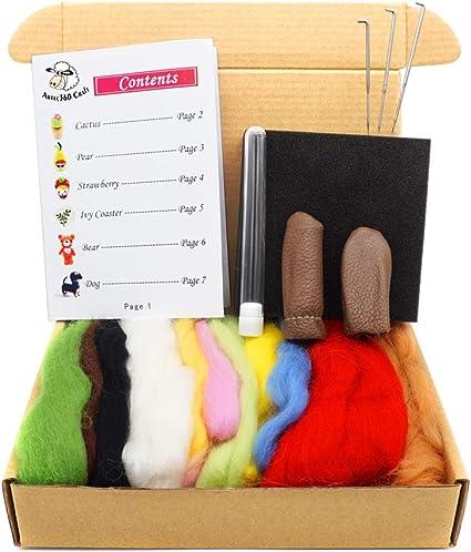Artec360 11 Color Lana de Merino Kit de Felting Lana Fieltro - Hacer 6 Muñecas 80g: Amazon.es: Hogar