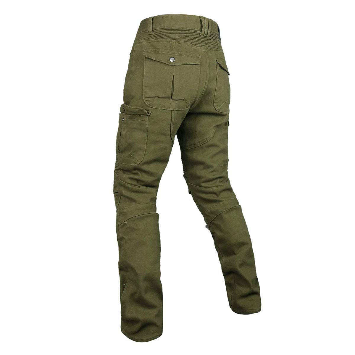 Black, L Mens /& Womens Velvet Warm Motocross Racing Pants Winter Motorcycle Jeans Riding Protection Trousers with CE Knee Hip Armor VES-36