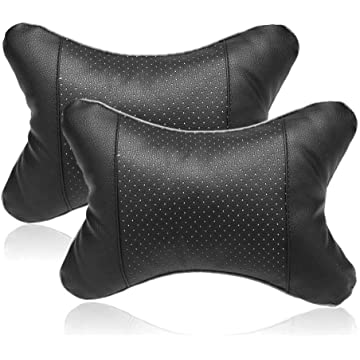 Ladiy 2 PCS Travel Car Auto Seat Head Neck Rest Cushion Pad Headrest Pillow Travel Pillows