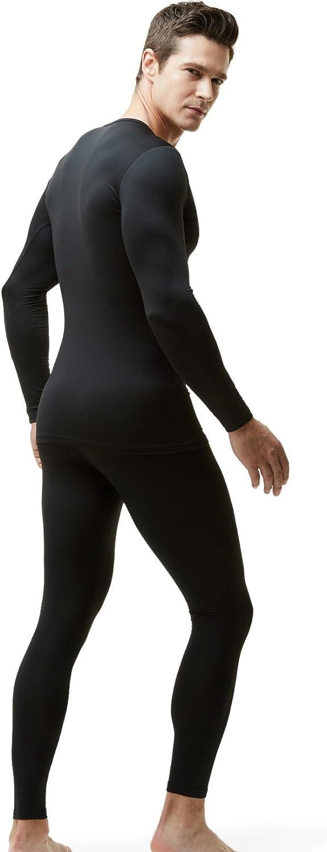 TSLA Blank Mens Thermal Microfiber Soft Fleece Long Johns Top /& Bottom Set