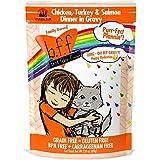Weruva B.F.F. OMG - Best Feline Friend Oh My Gravy!, Purr-Fect Plannin'! with Chicken, Turkey & Salmon in Gravy Cat Food by, 2.8oz Pouch (Pack of 12)
