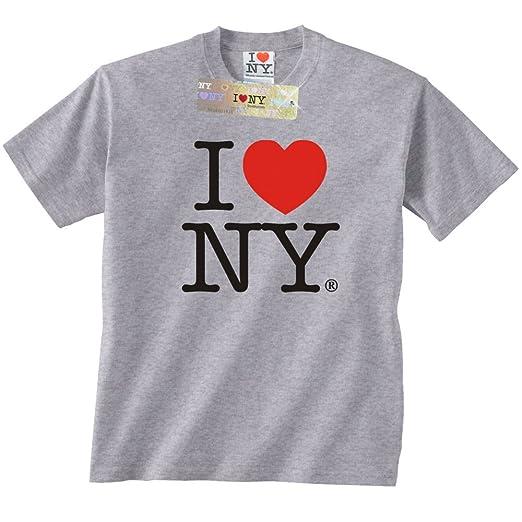 42f7a375 City-Souvenirs I Love NY T-Shirt Grey Unisex Short Sleeve