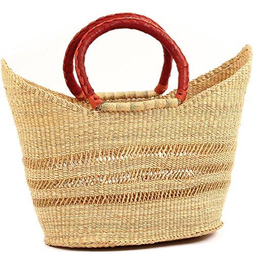 (Fair Trade Ghana Bolga African Dye Free Petal Shopper 14-16