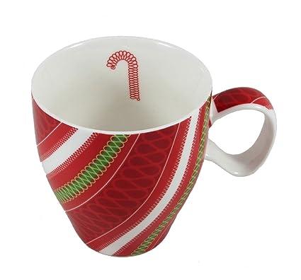 Starbucks Christmas Coffee Mugs.Starbucks Ribbon Candy Cane Mug Christmas 2005