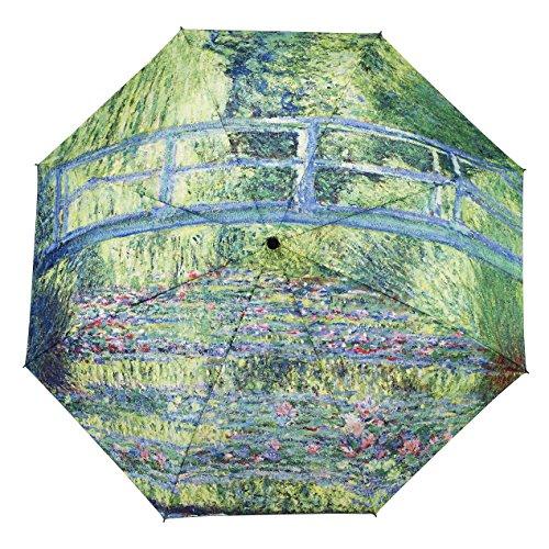 Monet Japanese Bridge Folding Umbrella