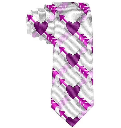 Corbata del día de la tarjeta del día de San Valentín del corazón ...