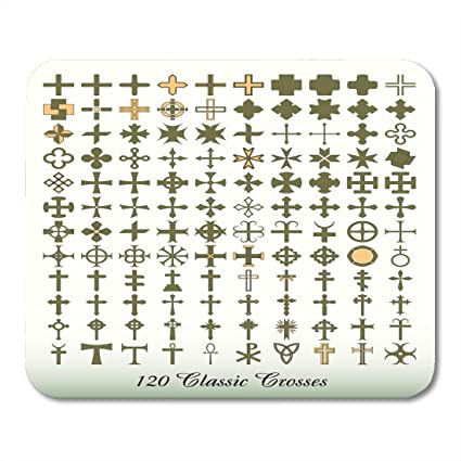 1e5eff7383 Emvency Mouse Pads Greek Catholic Cross Collection of 120 Classics Symbol  Medieval Mouse Pad for notebooks
