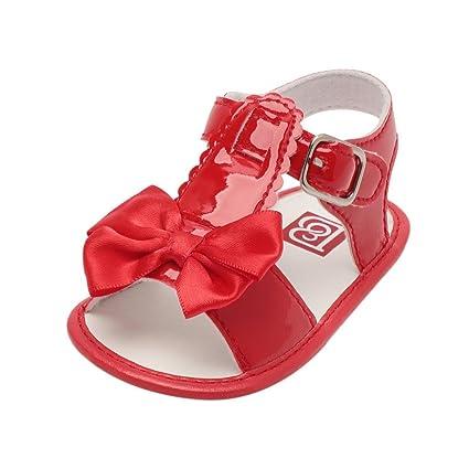 Sandalias de Bebé ❤ Amlaiworld Verano Infantil Bebé Niña Bowknot Cuna Zapatos Zapatos únicos antideslizantes. Pasa ...