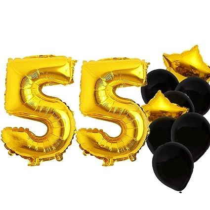 Amazon.com: DOYOLLA 40 pulgadas 55 globos de números ...