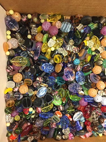 3 Pounds of Mix Lamp Work, Glass, Crystal Mix Beads, Encased Beads, Wedding Cakes, Crackle, Czech Pressed,, Crystal, Chinese Eye, BumpY Dots, Assorted, Variety Mix Size 6mm-24MM, Variety of Colors by modebeads (Image #5)