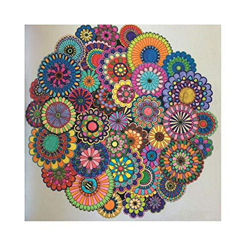 AkoMatial Diamond Painting Kits Full Drill,Mandala Flower DIY 5D Diamond Painting Kits Rhinestone Crystal Embroidery Pictures Cross Stitch Art Craft for Home Decor 3030cm
