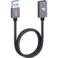 RAMPOW Cable Alargador USB 3.0 [0.5M] Quick Charge 3.0 5Gbps USB A Macho A Hembra Cable Extension 500MB/S para Equipos y…