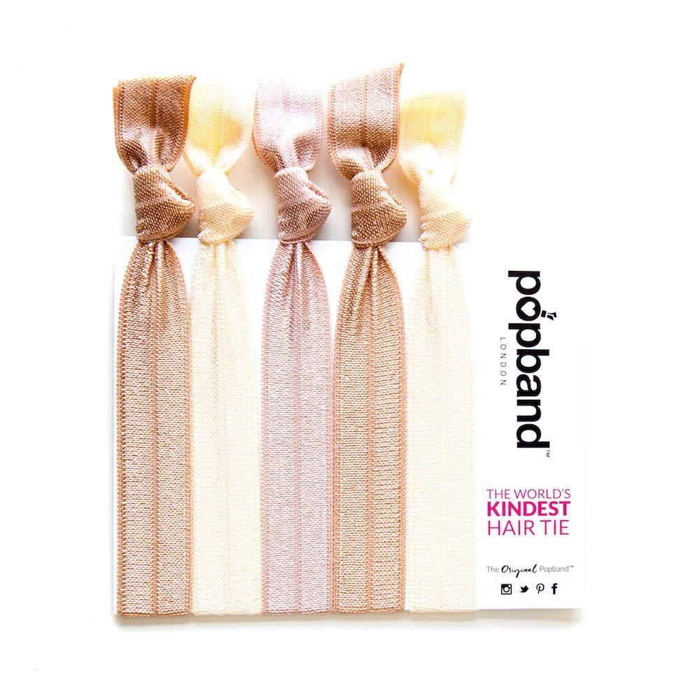 Popband Printed Ponytail Holder Hair Bands/Ties - Mermaid, 5 Pack 5MER