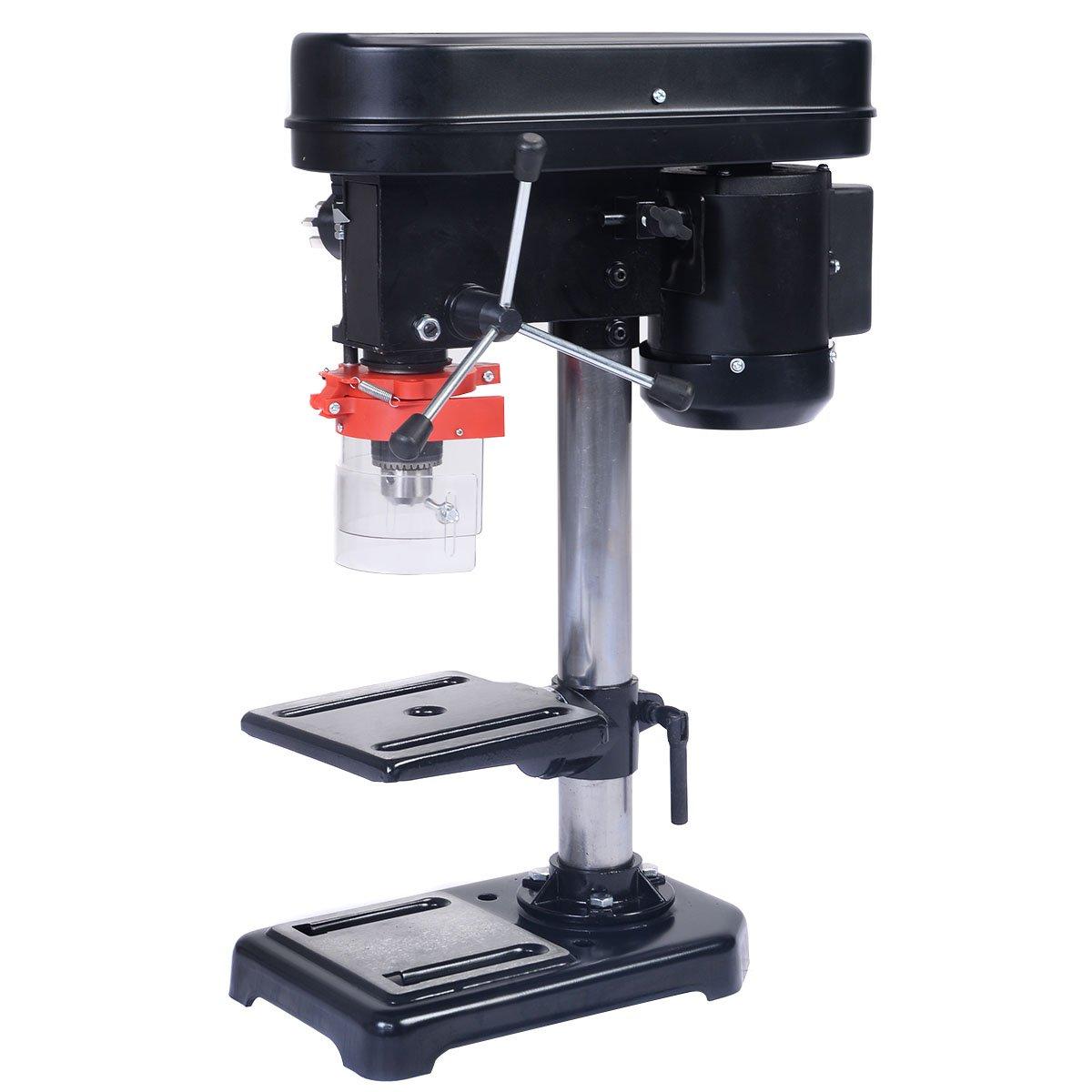 Perceuse à colonne Perceuse à établi 350W Profondeur de perçage 50mm Diamètre mandrin : 1, 5-13 mm Portée : 104 mm Inclinaison de la table de perçage : 0°à +45° YTF-3126