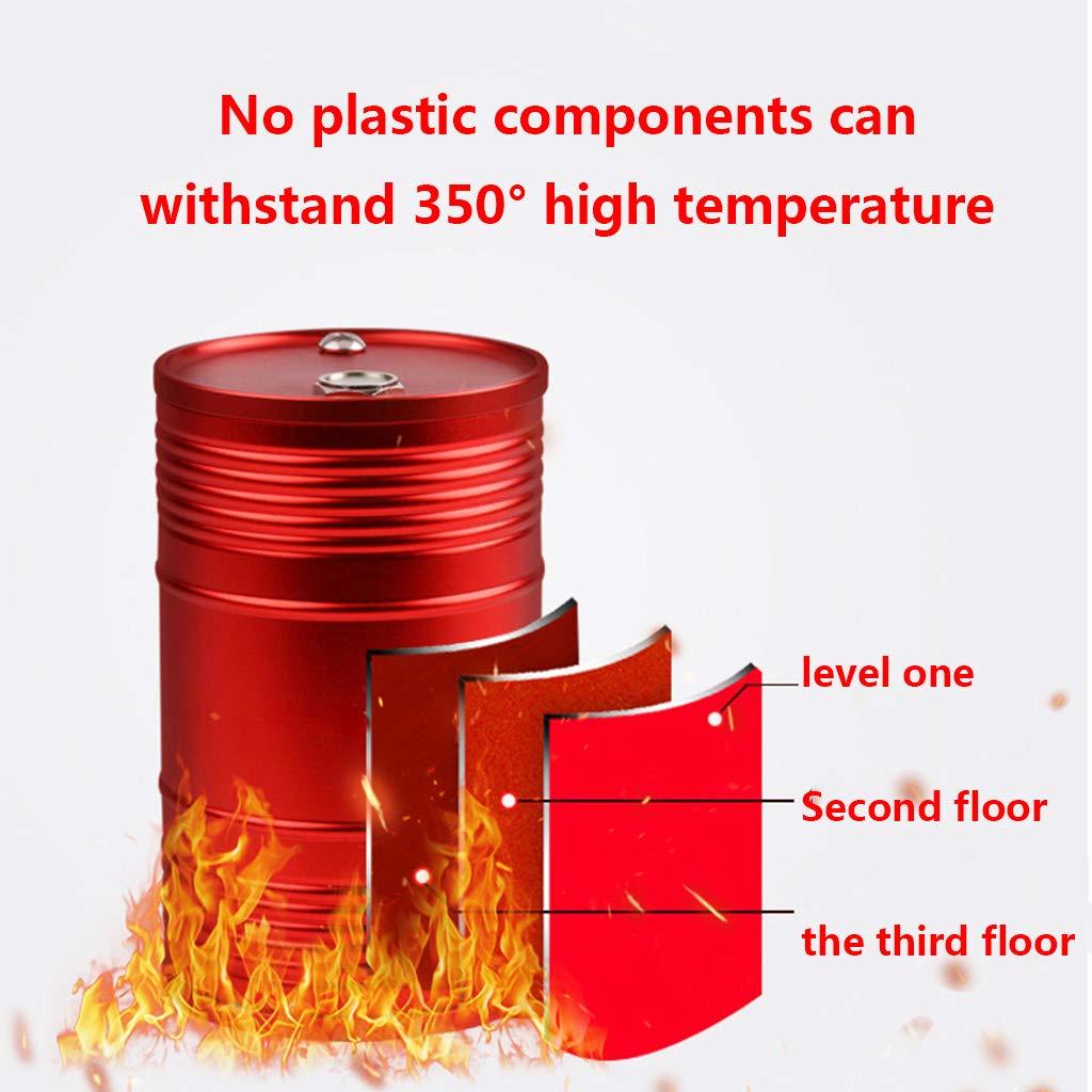 Resistencia a Altas temperaturas Pommee Desmontable Cenicero de Coche de Metal y aleaci/ón de Aluminio