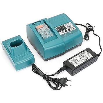 REEXBON 7.2V-18V Cargador de Repuesto de Ni-MH/Ni-CD/Li-ion para Makita Batería BL1840 BL1835 BL1830 BL1830 BL1440 194204-5 194205-3 194309-1 7000 ...