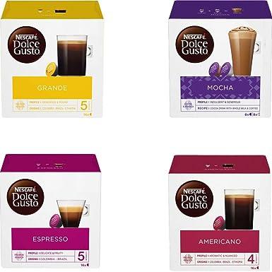 NESCAFE DOLCE GUSTO - Cápsulas de café para cafetera (64 Unidades, en Caja, 4 sabores Variados): Amazon.es: Alimentación y bebidas