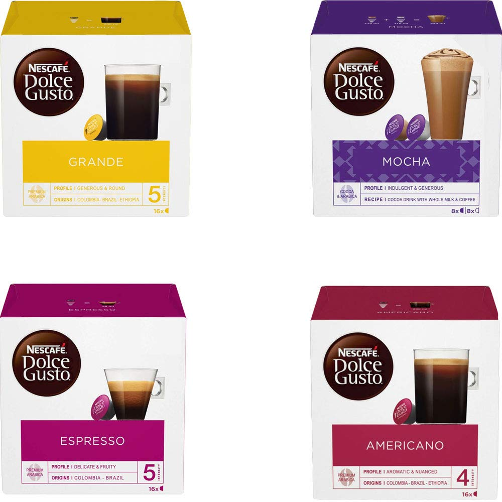 Nescafe Dolce Gusto 4 Sabor Variedad Negro coffeepack (64 ...