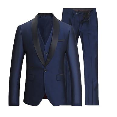 Costume Homme Tuxedo Diner Trois-pièces d affaire Mariage Business Suit Un  Bouton à ea008fbf387