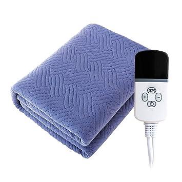 HONG Manta eléctrica, Plomería Control Doble Impermeable Ajuste de la Temperatura,Blue,120 * 150cm: Amazon.es: Hogar