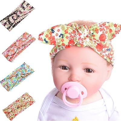 profiter du meilleur prix profiter du prix le plus bas sélection spéciale de 5 Pcs Bébé Fille Garçon Bandeau Cheveux Bow Bandeau Turban ...