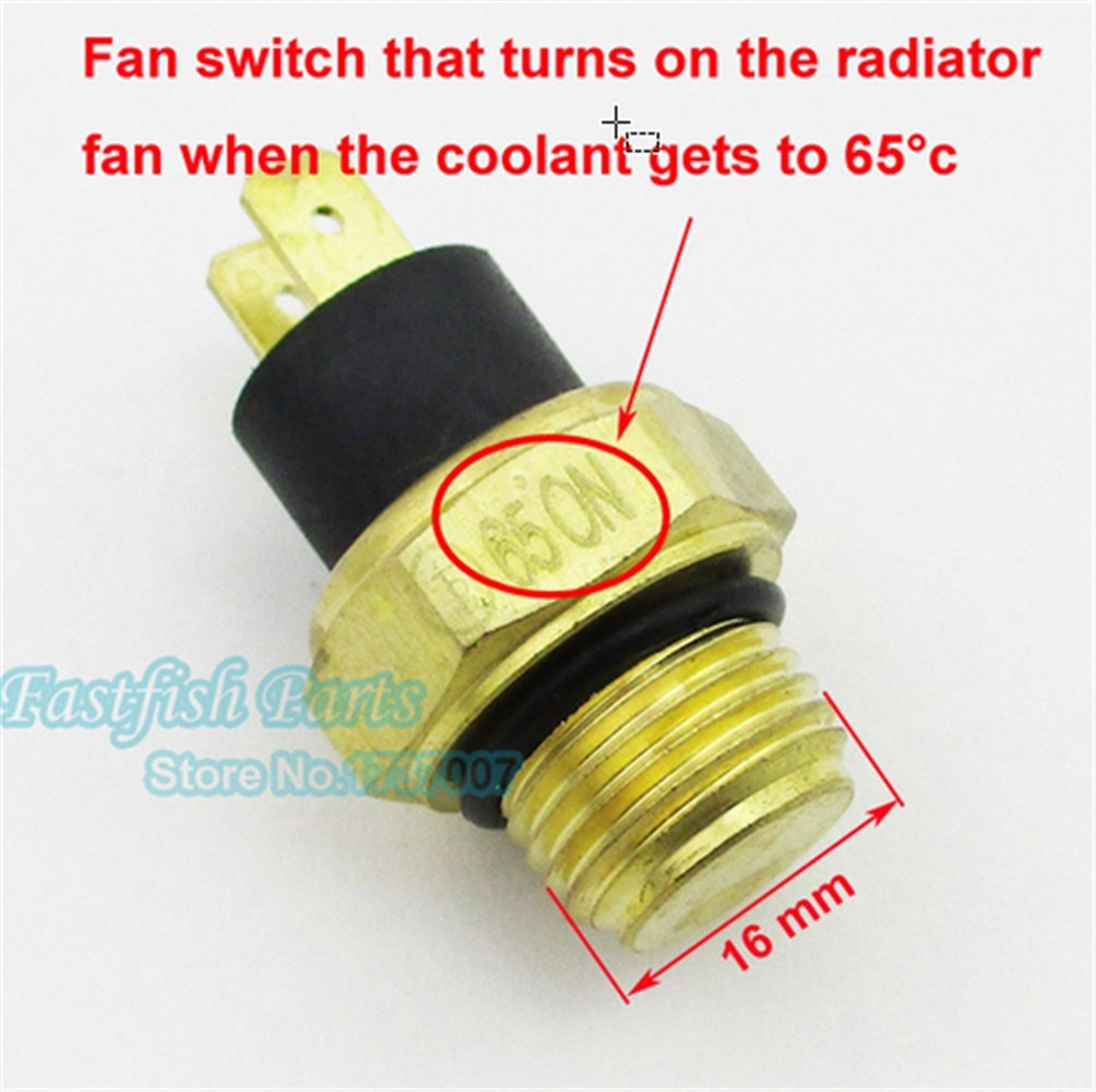scooter M16 Radiator Thermal Fan Switch Thermostat For 250cc Water Cooled ATV Quad Motorcycle Parts
