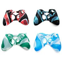 4 Pack of Silicone Xbox 360 Controller Skin, Premium Super Grip Protective Skin Case Cover for Xbox 360 Controller