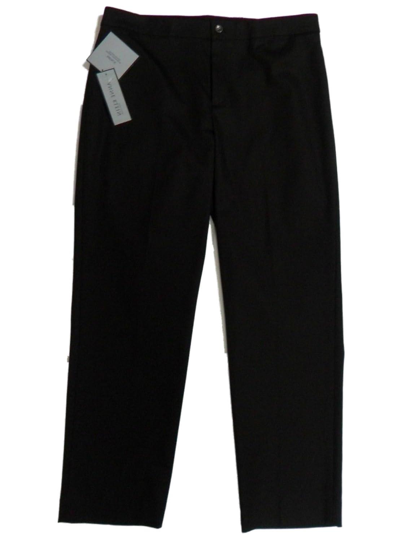 Anne Klein NEW York Women's Natalie Lux Cotton Slim Leg Dress Pants 12 Bark Brown