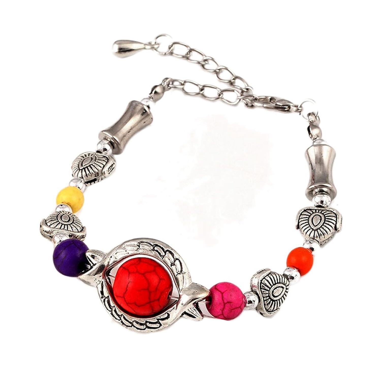 SusenstoneBohemia Round Ball Beads Bracelet, Handmade Accessories