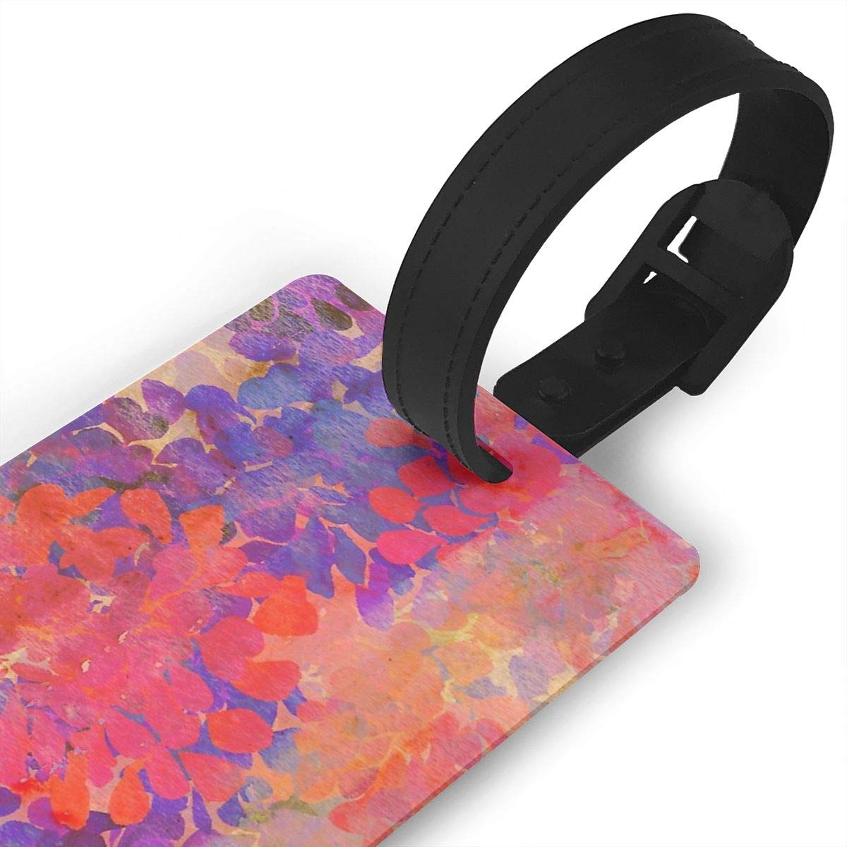 Set of 2 Floral Composition Luggage Tags Suitcase Labels Bag Travel Accessories
