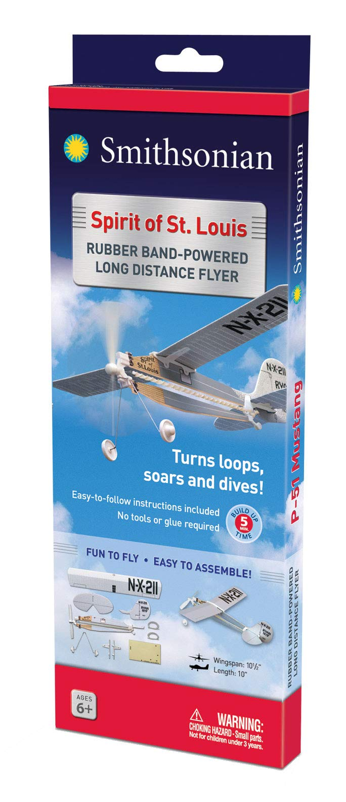 Smithsonian Rubber-Band-Powered Flyers - (Set of 4) by Smithsonian (Image #5)