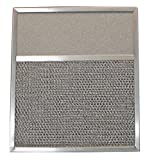 Aluminum Range Hood Filter with Light Lens - 11-11/16'' X 13-15/32'' X 3/8'' (Lens Size 5'' X 11-11/16'')
