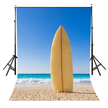 Lyly Condado de playa fotografía fondo 5 x 7ft tabla de surf verano fiesta fondos estudio