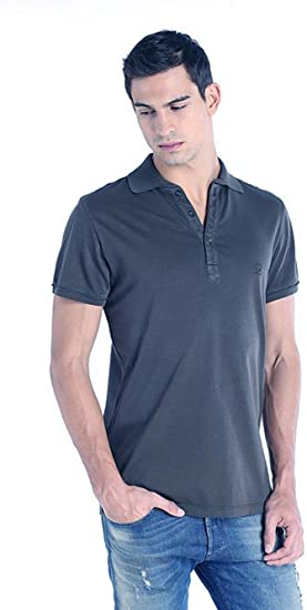 Diesel Camisa Polo T-Etienne Camicia Single Jersey Hombre (Azul ...