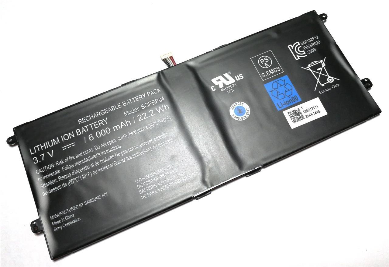 PTK-Power Battery 3.7V 6000Mah SGPBP04 SGPBP03 For SONY SGPT121 SGPT122 SGPT133 Xperia Tablet S Series