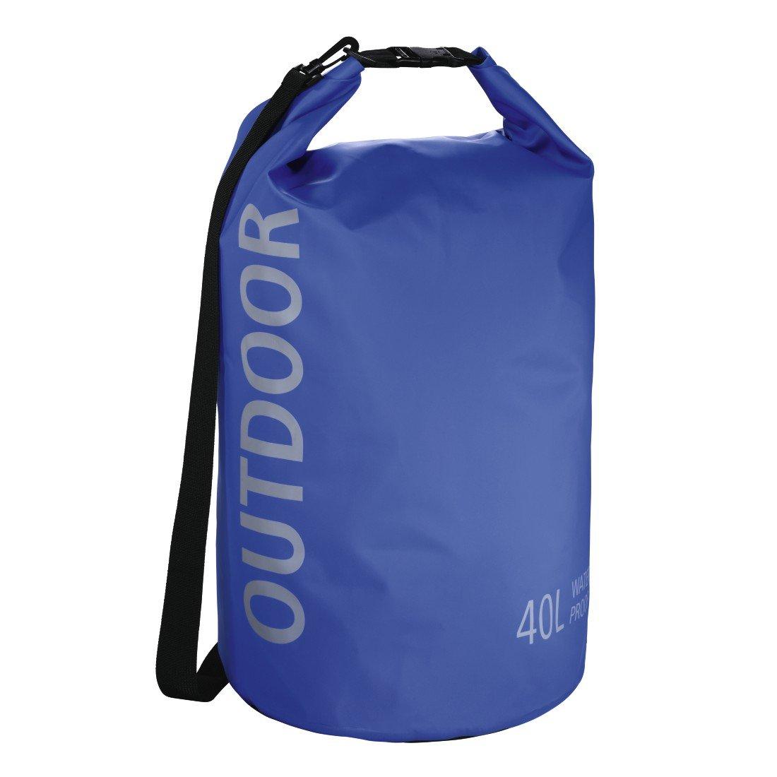 Hama Dry-Bag Schultertasche (40l, Wasserdichter Outdoor Packsack mit Roll-Top-Verschluss, Ideal für Wasser-Sport, Camping, Motorrad-Touren, Etc, im Seesack-Stil) Blau Ideal für Wasser-Sport Hama GmbH & CO KG 00178177