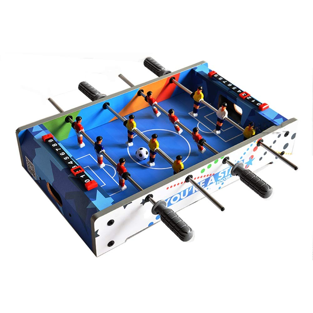 Zxcvlina-YX Soccer Foosball Table W/Game Room Indoor Soccer Game Table for Adults Kids Room Sports Game Combination Game Table (Color : Blue, Size : 51x31x11cm) by Forgiven