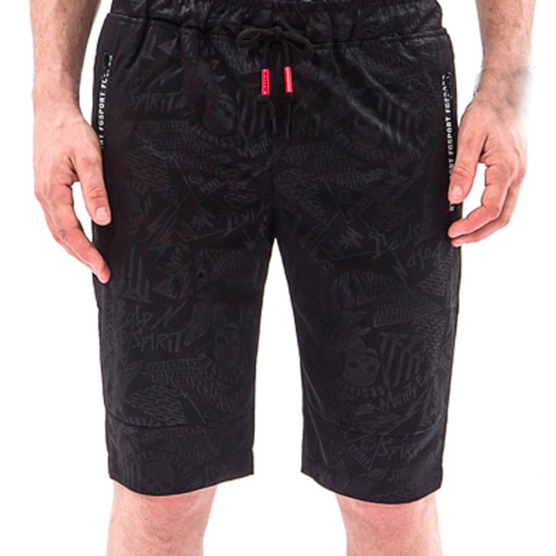 Inverlee Mens Trouser Men Overalls Skull Casual Pocket Beach Work Casual Short Trouser Shorts Pants