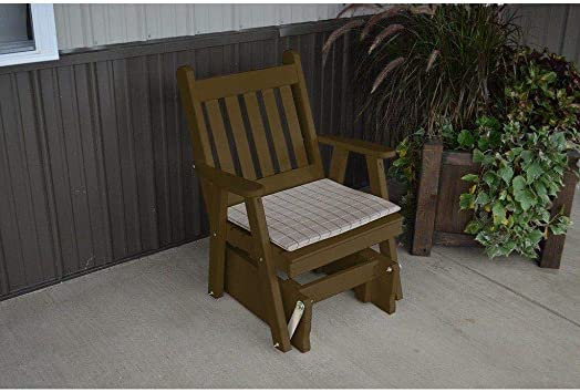 A L Furniture Co. Yellow Pine Traditional English Glider Chair – Lead TIME to Ship 5 Weeks