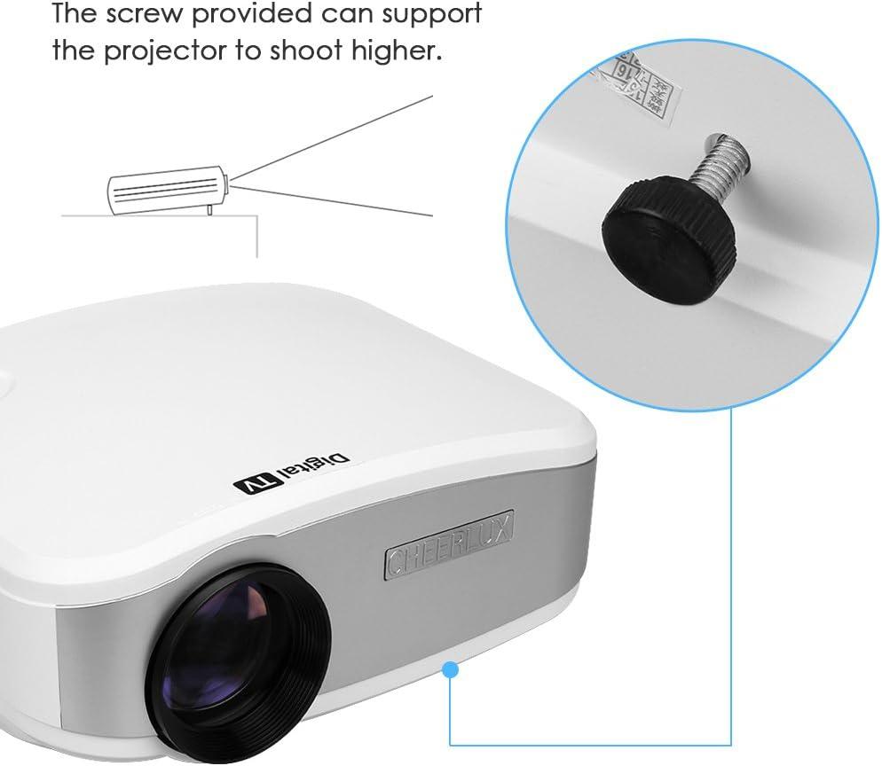 Cheerlux C6 - Mini Led Proyector Portátil (800 x 400, 1080P ...
