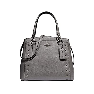 ba653a56 Coach Minetta Leather Crossbody with Lacquer Rivets - #F37816