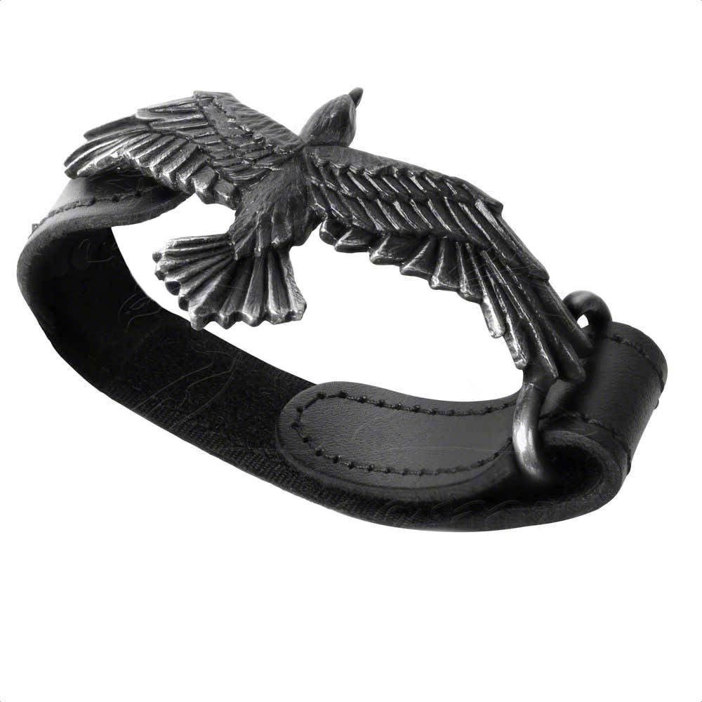 Alchemy Gothic Black Raven Earrings Odin/'s Companion Black Pewter Earrings