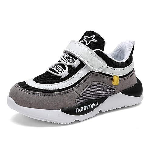 1228a29defe37 Zapatillas de Deporte para niños Zapatillas Deportivas a Rayas con Velcro  Niños Chicas Zapatos para Caminar Ligeros Niños Antecedentes Gruesos ...