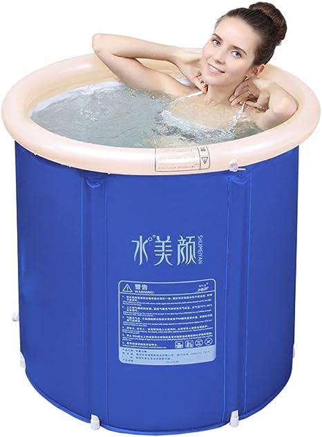 taille : 65*70cm Sunjun/& Baignoire Bain pour adulte Baignoire gonflable /Épais en plastique pliante Enfants Baignoire Barils