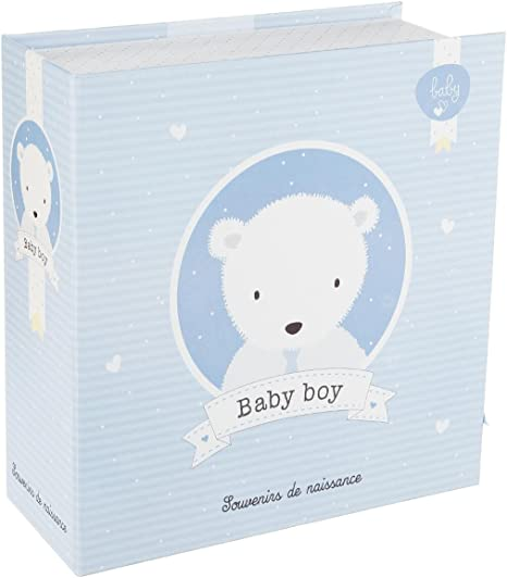 Caja de recuerdos del nacimiento bebé - Color AZUL: Amazon.es: Bebé