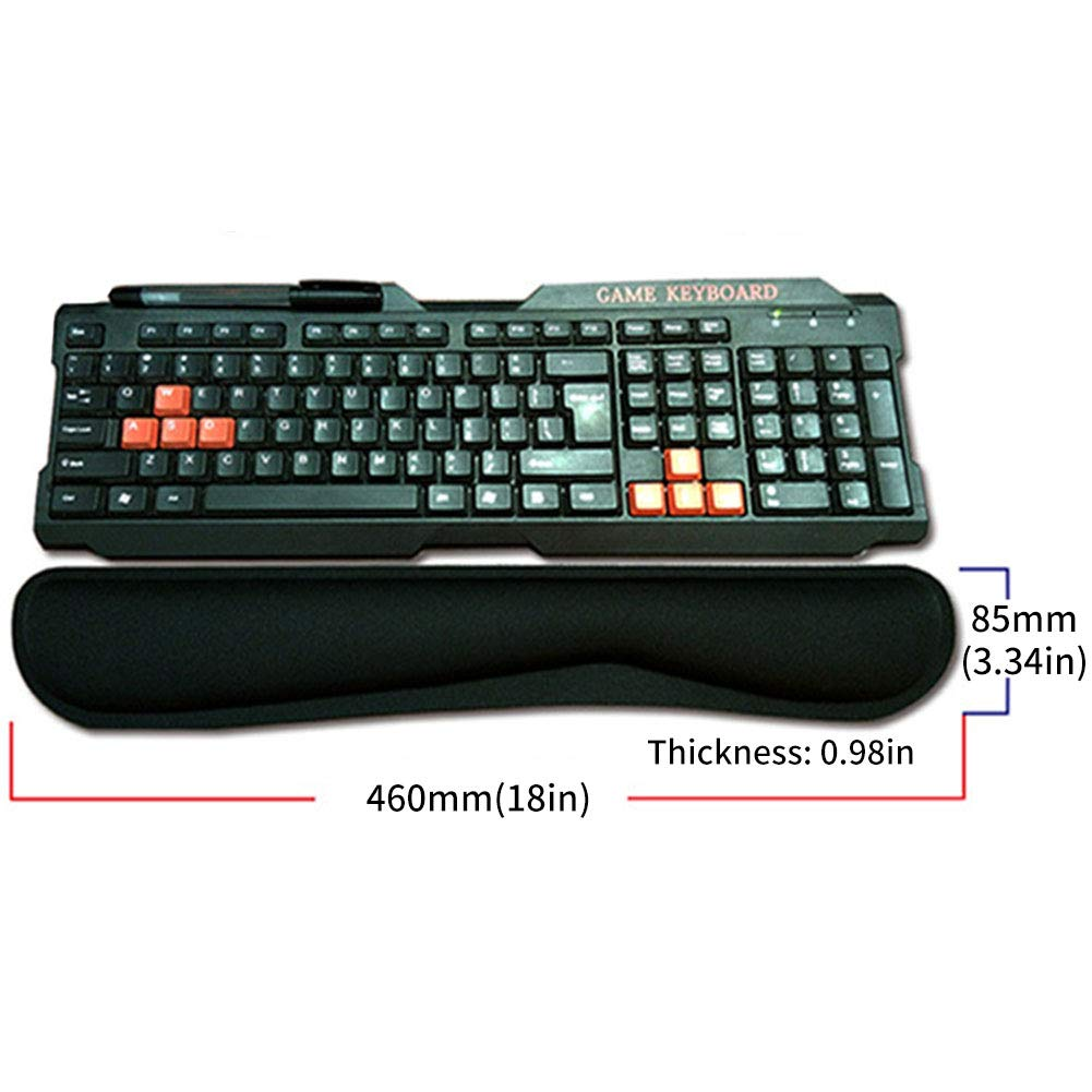 Keyboard and Mouse Wrist Rest Set Memory Foam Game Desktop Mouse Pad Comfortably Typing Pain Relief Wristband for Office Gaming Computer Laptop and Mac (Key Board Wrist Pad) YIFEIKU Co. Ltd.