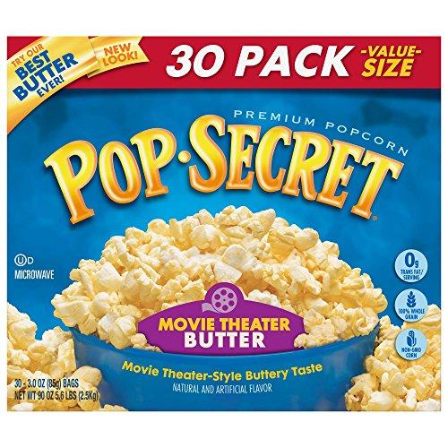 Pop Secret Popcorn, Movie Theater Butter,3 oz, 30 Count