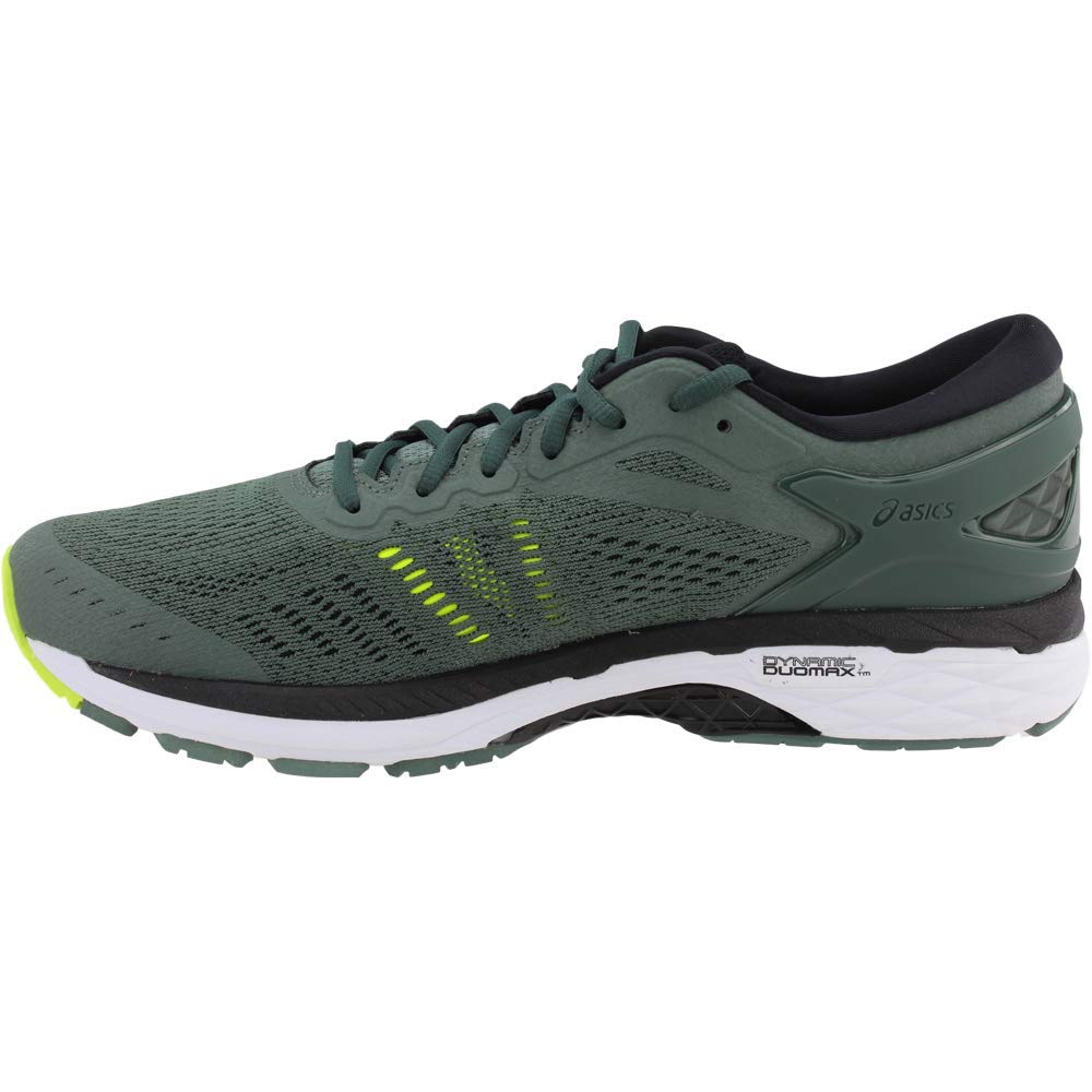 ASICS Men's Gel-Kayano¿ 24 Dark Forest/Black/Safety Yellow 6 D US by ASICS (Image #4)