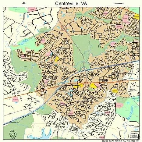 Amazon Com Large Street Road Map Of Centreville Virginia Va